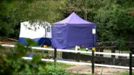 Body found in River Brent ENGLAND London Ealing Hanwell EXT Forensic tents on the bank of the River Brent where the body of Alice Gross was found