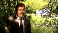 Body found in River Brent Police forensics tents erected on the river bank Reporter to camera SOT