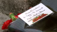 Body found in River Brent Sympathy card with message attached to flower bouquet