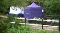 Coroner transfers case after confidential file blunder T01101410 / TX 1102014 Forensic tents on bank of River Brent where body of Alice Gross was...