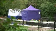 Family say better checks on foreign criminals may have saved her T03101402 / TX Ealing Police forensics tents erected on the bank of the River Brent...