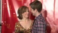 Alice Ripley and Aaron Tveit at the Harry Smith Hosts the Visa Signature Tony Awards Season Celebration at New York NY