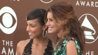 Alicia Keys and Faith Hill at the 2006 Grammy Awards arrivals at the Staples Center in Los Angeles California on February 8 2006