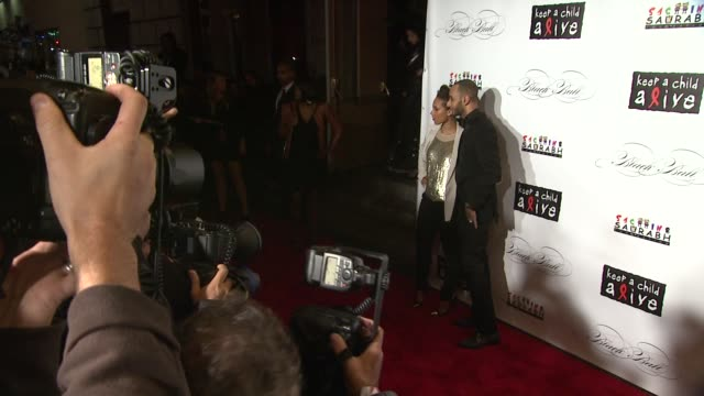 Alicia Keys and Swizz Beats at the Keep A Child Alive's 8th Annual Black Ball Red Carpet at New York NY