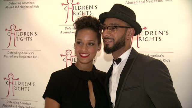 Alicia Keys and Swizz Beatz at 8th Annual Children's Rights Benefit at Four Seasons Restaurant New York on October 7 2013