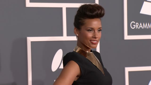 Alicia Keys at 54th Annual GRAMMY Awards Arrivals on 2/12/12 in Los Angeles CA