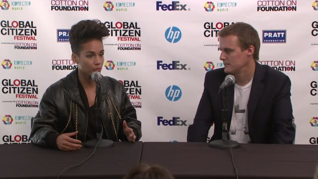INTERVIEW Alicia Keys on helping the cause why she supports it and being a global citizen at 2013 Global Citizen Festival in Central Park To End...