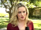 Alicia Silverstone on support for environmentalism education and the adverse effects of pollution on children at the Eco Salon on the Children's...