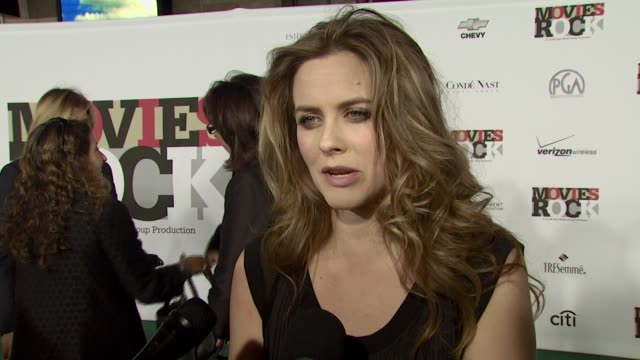 Alicia Silverstone on the event and her favorite movie musical her New Year's resolution at the Movies Rock A Celebration of Music in Film at the...
