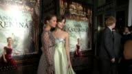 Alicia Vikander Keira Knightley at Anna Karenina Premiere Presented By Focus Features on 11/14/12 in Los Angeles CA