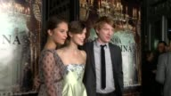 Alicia Vikander Keira Knightley Domhnall Gleeson at Anna Karenina Premiere Presented By Focus Features on 11/14/12 in Los Angeles CA