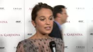 Alicia Vikander on Anna Karenina on the way the film was shot in a theatre working with Joe Wright at Anna Karenina Premiere Presented By Focus...