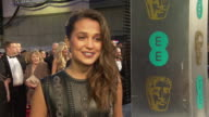 INTERVIEW Alicia Vikander on not know what film to talk about working with Eddie Redmayne finishing off 'Jason Bourne' at The EE British Academy Film...