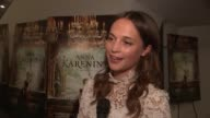 Alicia Vikander on the film what she learned about herself while making the film and on working with Joe Wright at the 'Anna Karenina' Special...