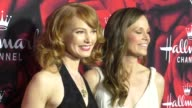 Alicia Witt and Rachel Boston at the Hallmark Channel and Hallmark Movies and Mysteries Winter 2017 TCA Press Tour at Tournament House on January 14...