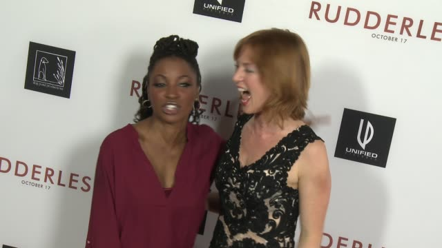 Alicia Witt and Shanola Hampton at 'Rudderless' Los Angeles Premiere at the Vista Theatre on October 07 2014 in Los Angeles California