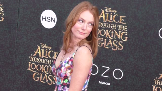 Alicia Witt at the Premiere Of Disney's Alice Through The Looking Glass at El Capitan Theatre in Hollywood in Celebrity Sightings in Los Angeles