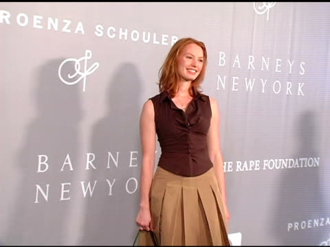Alicia Witt at the Proenza Schouler Fashion Show to Benefit the Rape Foundation Hosted By Barneys New York and CoSponsored by HewlettPackard on April...