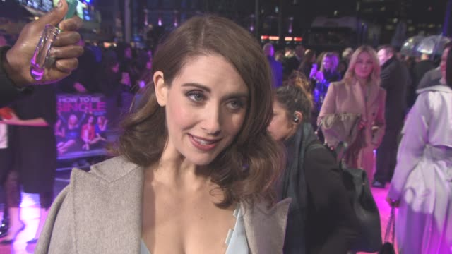 INTERVIEW Alison Brie on men would learn a lot by watching this film picking up girls her engagement at 'How To Be Single' European Premiere at Vue...