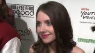 Alison Brie on the importance of attending tonight's event on the proceeds from the event being donated to the Peapod Music and Arts Academy and on...