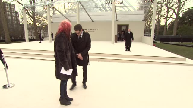 Alison Mosshart at Burberry Prorsum Red Carpet Arrivals London Fashion Week Autumn/Winter 2012 at Kensington Gardens on February 20 2012 in London...