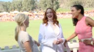 Alison Pill Anna Faris Christina Hendricks and Rosario Dawson at the FifthAnnual Veuve Clicquot Polo Classic Los Angeles at Will Rogers State...