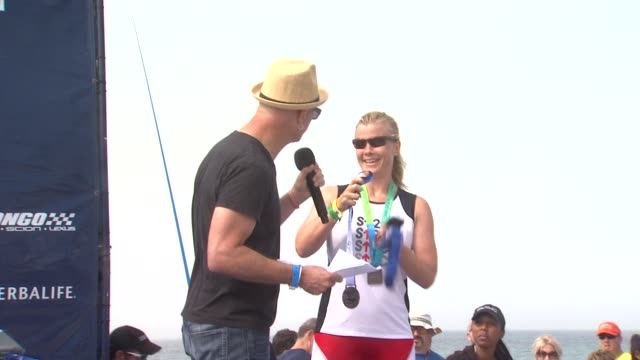 Alison Sweeney at award presentation at 26th Annual Nautica Malibu Triathlon on 9/16/12 in Malibu CA