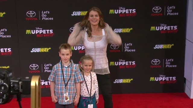 Alison Sweeney at Disney's 'Muppets Most Wanted' Los Angeles Premiere at the El Capitan Theatre on March 11 2014 in Hollywood California