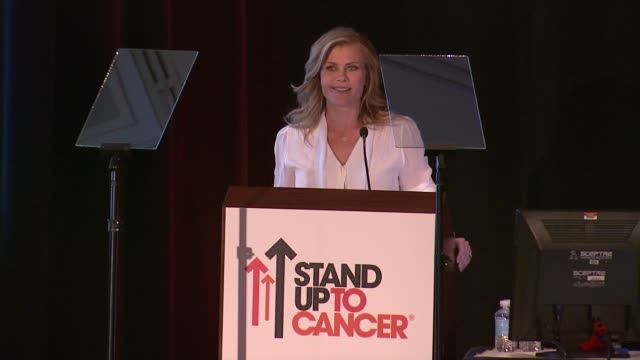 SPEECH Alison Sweeney at Stand Up To Cancer Press Event At The AACR Annual Meeting in San Diego CA