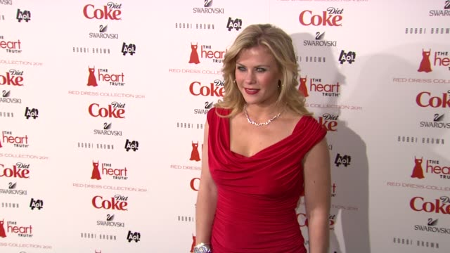 Alison Sweeney at the The Heart Truth's Red Dress Collection Arrivals Fall 2011 MBFW at New York NY