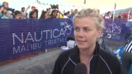 Alison Sweeney on participating and training tips at 26th Annual Nautica Malibu Triathlon on 9/16/12 in Malibu CA