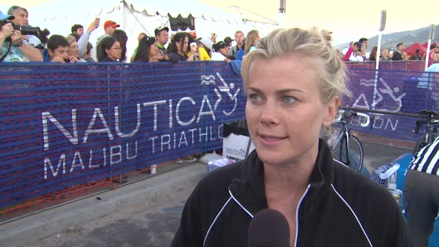 Alison Sweeney on participating and training tips at 26th Annual Nautica Malibu Triathlon on 9/16/12 in Malibu CA