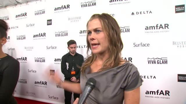INTERVIEW Alison Sweeney on the event at amfAR's Inspiration Gala Los Angeles in Los Angeles CA