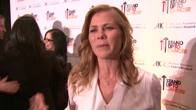 INTERVIEW Alison Sweeney on the event at Stand Up To Cancer Press Event At The AACR Annual Meeting in San Diego CA