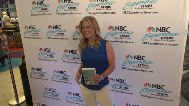 Alison Sweeney poses for photographers in the NBC Experience Store in Rockefeller Center in Celebrity Sightings in New York