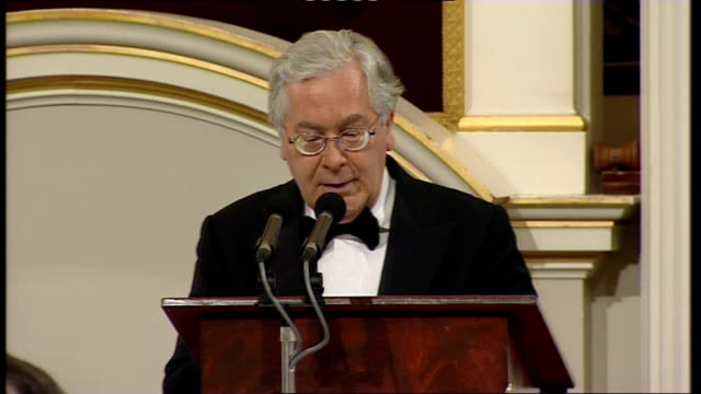 Alistair Darling and Mervyn King speeches Master of Ceremonies announcing Mervyn King SOT King speech SOT It has been quite a year A year to remember...