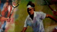 All England Club launch search for greatest Wimbledon Champion of all time Applause as painting of former Wimbledon champions is unveiled / Various...