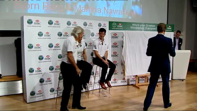 All England Club launch search for greatest Wimbledon Champion of all time ENGLAND London Victoria and Albert Museum INT Tim Henman along into room...