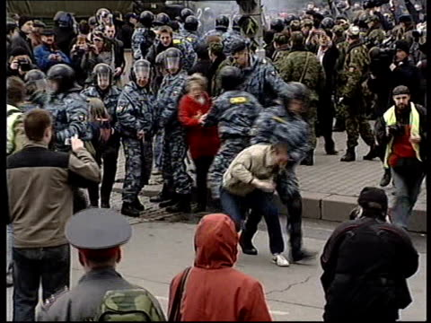 Alleged Boris Berezovsky assassination plot EXT Violent police at antiPutin demonstration as arresting protesters