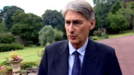 Philip Hammond interview LOCATION Philip Hammond Statement interview SOT On possibility of military intervention in Syria / UN inspectors need access...