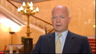 William Hague interview ENGLAND London Lancaster House INT William Hague MP interview SOT What seems to have been a terrible atrocity near Damascus...