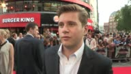 Allen Leech on Ray Winston on the set his relationship wit Hayley Atwell and working with other members of the cast at The Sweeney European Premiere...