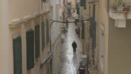 MS Alley in historic city of Kerkyra / Kerkyra, Corfu, Greece