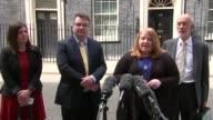 Alliance Party of Northern Ireland press conference ENGLAND London Downing Street EXT Naomi Long press conference SOT
