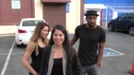 Allison Holker and Stephen Twitch Boss at Dancing With The Stars Rehearsal Studio in Hollywood on October 04 2015 in Los Angeles California