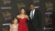 Allison Holker Maddox Laurel Boss and Stephen Boss at the Premiere Of Disney's 'Beauty And The Beast' at the El Capitan Theatre on March 02 2017 in...