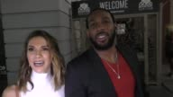 INTERVIEW Allison Holker Stephen 'Twitch' Boss talk about their upcoming Halloween costumes outside Montalban Theatre in Hollywood in Celebrity...