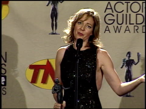 Allison Janney at the 2001 Screen Actors Guild SAG Awards at the Shrine Auditorium in Los Angeles California on March 11 2001