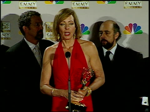 Allison Janney at the 2002 Emmy Awards Press Room at the Shrine Auditorium in Los Angeles California on September 22 2002