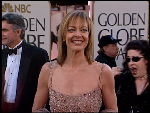 Allison Janney at the 2002 Golden Globe Awards at the Beverly Hilton in Beverly Hills California on January 20 2002